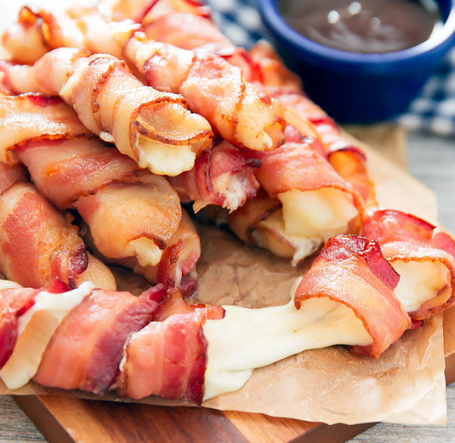Bacon Wrapped Cheese Sticks