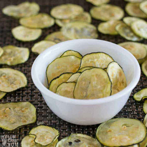 Baked Zucchini Keto Chips