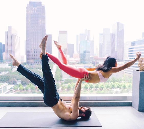 Doing yoga with your partner can increase the intimacy and the health of your relationship.