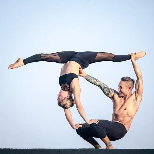 This is one of the best couple yoga poses you can do with your husband or boyfriend.