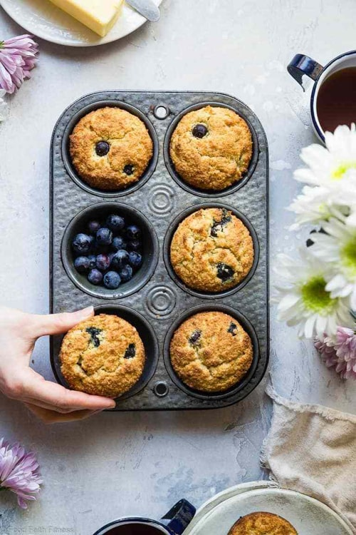 Keto Blue Berry Muffins with Almond Flour