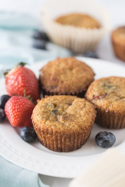 Keto Mixed Berry Muffins