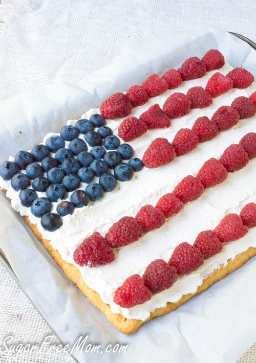 Low Carb Patriotic Desert Pizza
